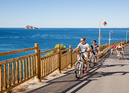 Electric bicycle routes through Spain